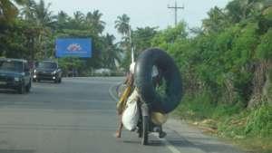 Typical Dominican Republic Road Scene