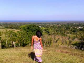 Our Friend Ana Overlooking Cano Azul