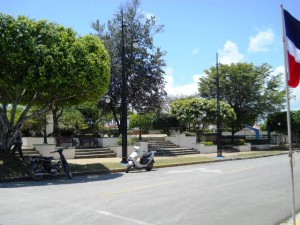 Town Square opposite of the municipal building.