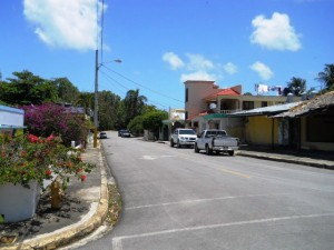 Section of Rio San Juan. Typical scene in town.