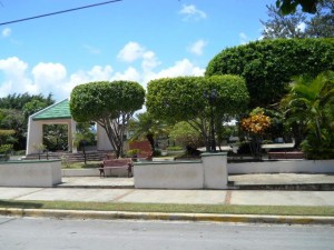 Rio San Juan Town park. Located in the middle of town and like all towns a gathering place for a beer and a few laughs.