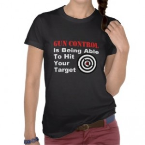 Gun Control is being able to hit your target. Sounds pretty tough considering YOU'VE JUST  BECOME THE TARGET!