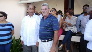 Barry in DR with the Mayor of Cabrera