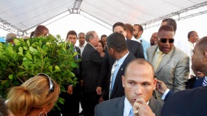 Exiting the Stage Surrounded By Body Guards the President Meets Briefly With Some People. Can't Believe I was One. THANK YOU NELSON!!