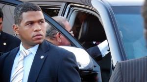 President Danilo Leaving under Full Security.