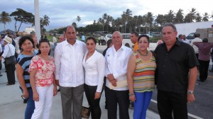 Mayor and Assistant Mayor of Cabrera Together with Family and Diplomats