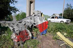 Cockpit of the downed flight MH-17 Notice the Bullet holes.