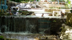 Tiered waterfalls in San Rafael. Nice place to stop for a drink and refresh.