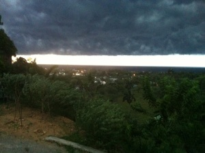 Storm front and boy did we get rain.