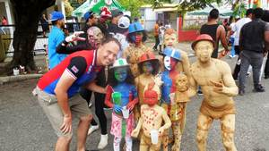 Dominican Carnival - Creative cosutmes... the whole family participates