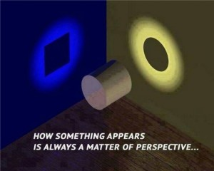 Depending on from what angle you're viewing the subject from will create a completely different perspective of what the reality of it is. Image credit to Ellie