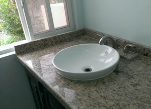 Upper Bath - Granite Counters, Floating Sinks