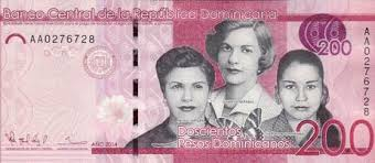 200 Pesos Dominicanos. It's a note!