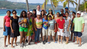 Johnny's English School Outing on Barcadi Island