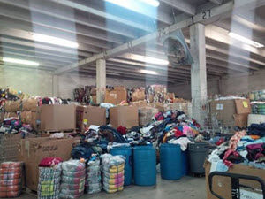 90,000 Pounds Of Clothing For Flood Victims