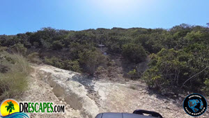 Monte Cristi Rough Road Up The Mountain