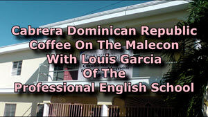 Coffee on the malecon with Louis Garcia